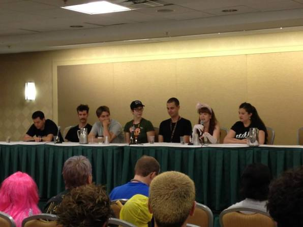 Gina Leigh and Aaron Lathrop speak on a panel about the current state of puppetry, DragonCon 2013.