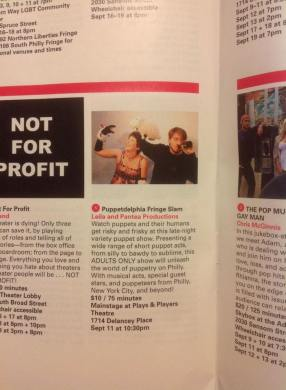 Puppetdelphia in the Philly Fringe Guide