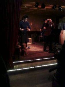 Gina Leigh performs her babydoll marionette to the tunes of the Absinthe Drinkers.