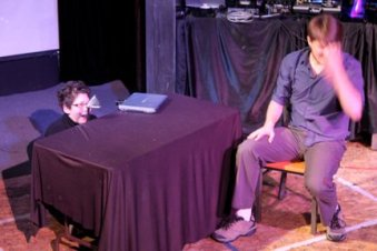 Pixel in the Pantheon. Written, puppets by Aaron Lathrop. Performed by Aaron Lathrop, Gina Leigh.