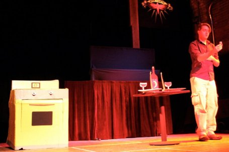 Will You Marinara Me? Written, puppets by Gina Leigh. Performed by Gina Leigh, Aaron Lathrop.