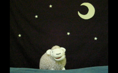 Sheep Caroline. Written, puppets by Aaron Lathrop. Music by Neil Diamond. Performed by Aaron Lathrop, Gina Leigh, and friends.